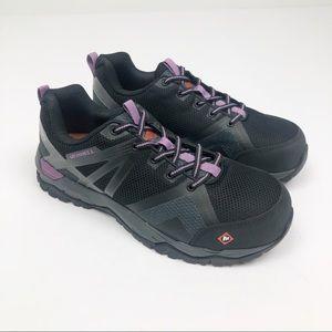 Merrell Fullbench 2 Steel Toe Black Work Shoes 9.5